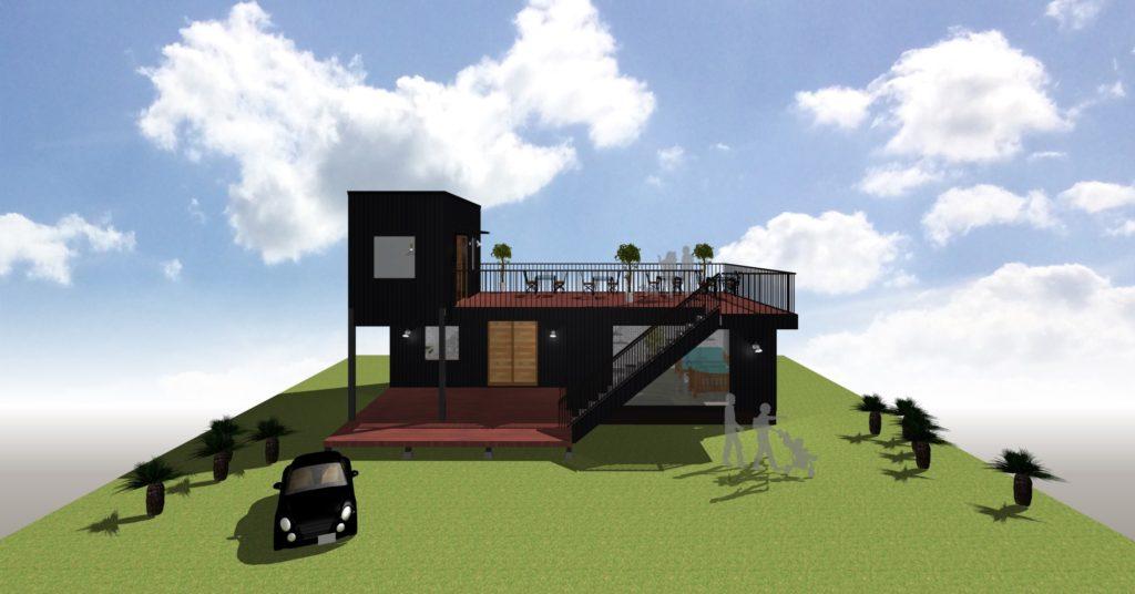 コンテナハウスの圧倒的な存在感自由でお洒落でタフなヤツ コンテナハウスの自由設計
