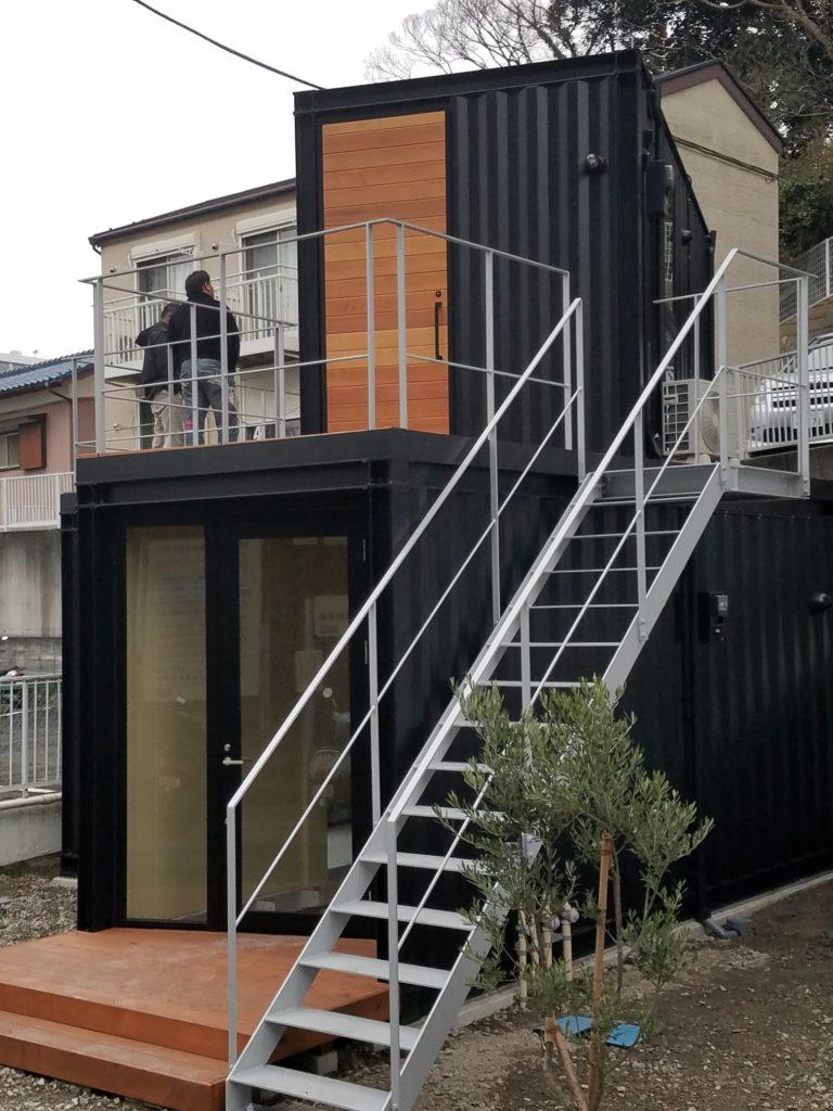 横須賀浦賀に (黒船)をテーマに 新しいコンテナハウス登場 施工事例
