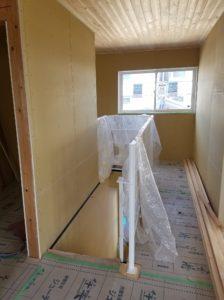 新築モデルハウス進行中です。